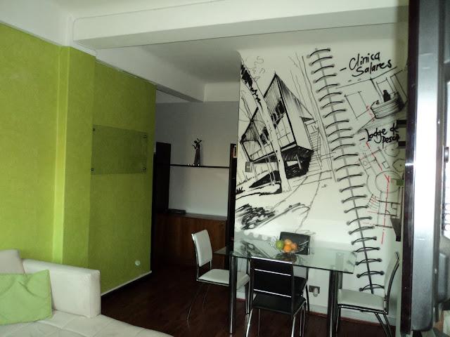 graffiti en izak en departamento, chile