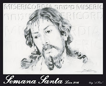 """Semana Santa de León 2016. Cartel del Blog El Seise. """"Miserere Mei, Deus"""". Autor: Jaime Babío"""