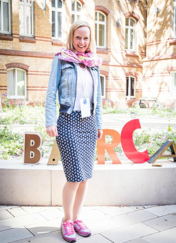 Renaade im neuen Lieblingsrock auf dem Blogst Barcamp