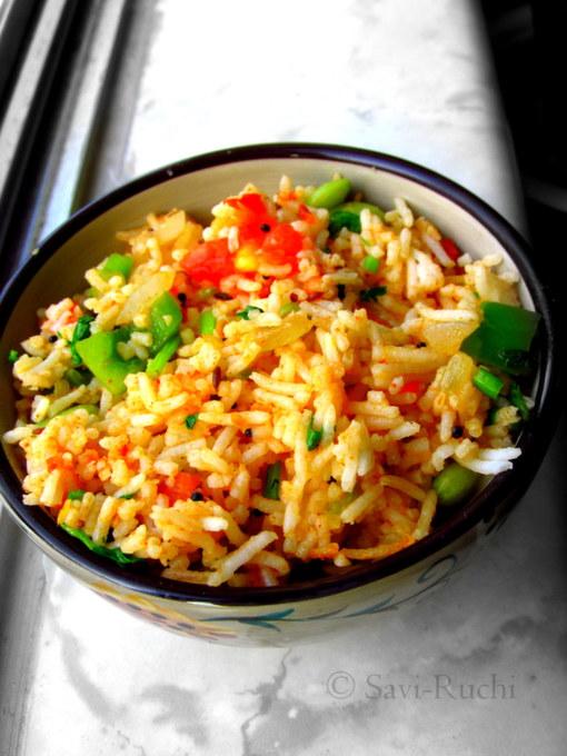 Savi ruchi tomato rice thakkali sadam without garlic left savi ruchi tomato rice thakkali sadam without garlic left over rice recipes ccuart Choice Image