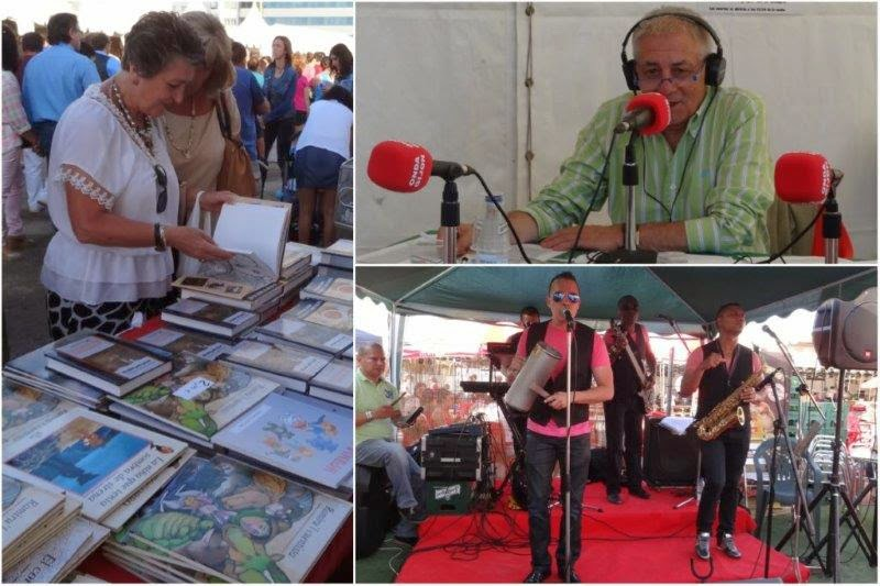 Semana Negra 2014 en Gijon. Venta de libros. Programa de radio desde la Semana Negra. Musica en directo.