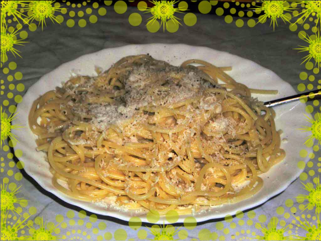 Provato per voi e noi spaghetti cacio e pepe tec al for Piatto tipico romano