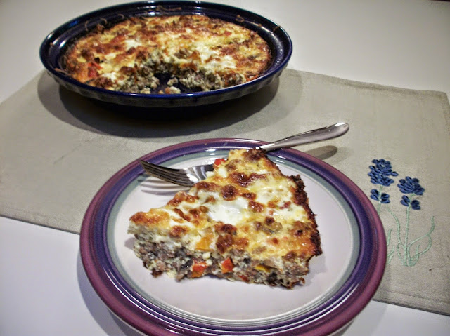 Featured Recipe | Sausage, Red Pepper and Mushroom Quiche from Cook With Sara #SecretRecipeClub #recipe #quiche #breakfast #sausage