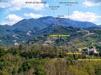 Vista de la Colònia Borgonya, amb el Serrat Alt i la Serra de Bellmunt al seu darrere, des de Can Pontet