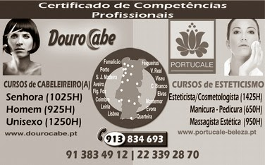 Cursos de cabeleireiro e esteticismo – várias zonas (Portugal)