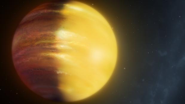 El planeta donde las nubes  están hechas de corindón, el mineral que forma los rubíes y zafiros.