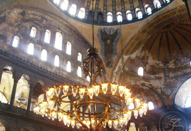 Angels with covered faces in Hagia Sophia