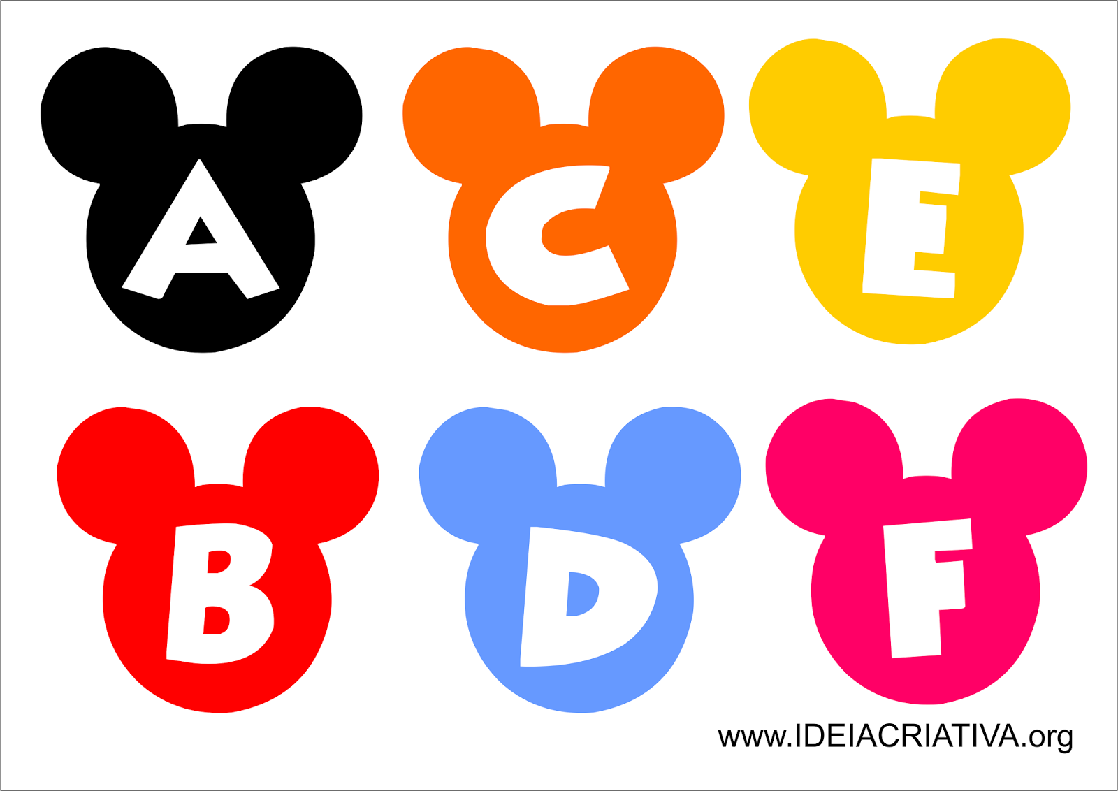 alfabeto mickey e minnie para imprimir