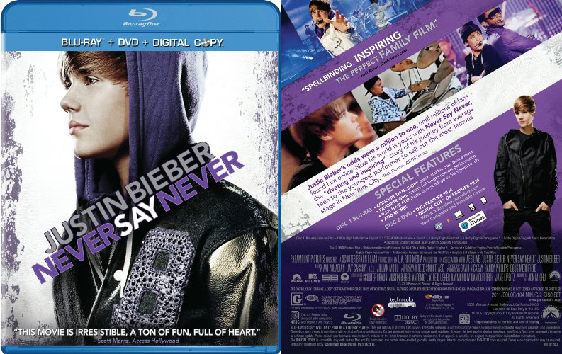 justin bieber never say never dvd 3d. Justin Bieber : Never Say
