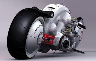 Moto futurista y creativa.