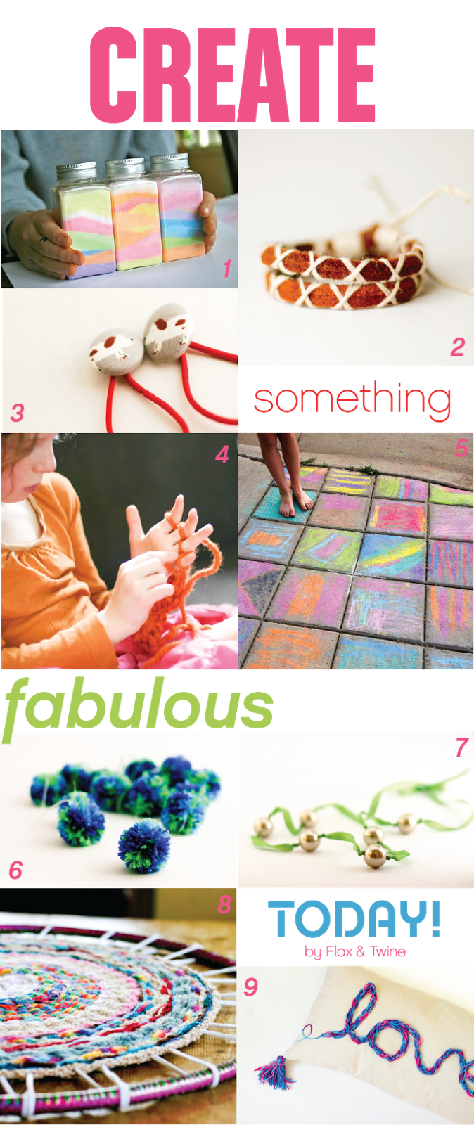 9 Projects You'll Love To Make With Your Kids From Flax and Twine