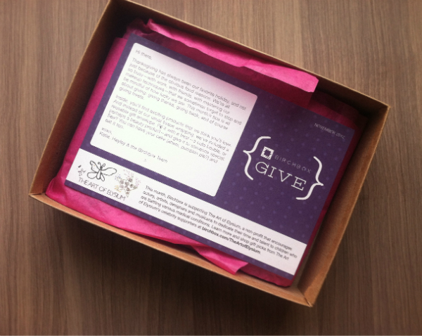 Birchbox Review - November 2012 - Monthly Beauty and Makeup Subscription Boxes for Women - Birch Box unboxing
