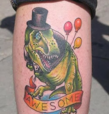 Gentleman T-Rex Tattoo