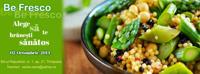 Alege să te hrăneşti sănătos. Seminar de nutriţie organizat de Fresco în Timişoara. 2 Octombrie 2014