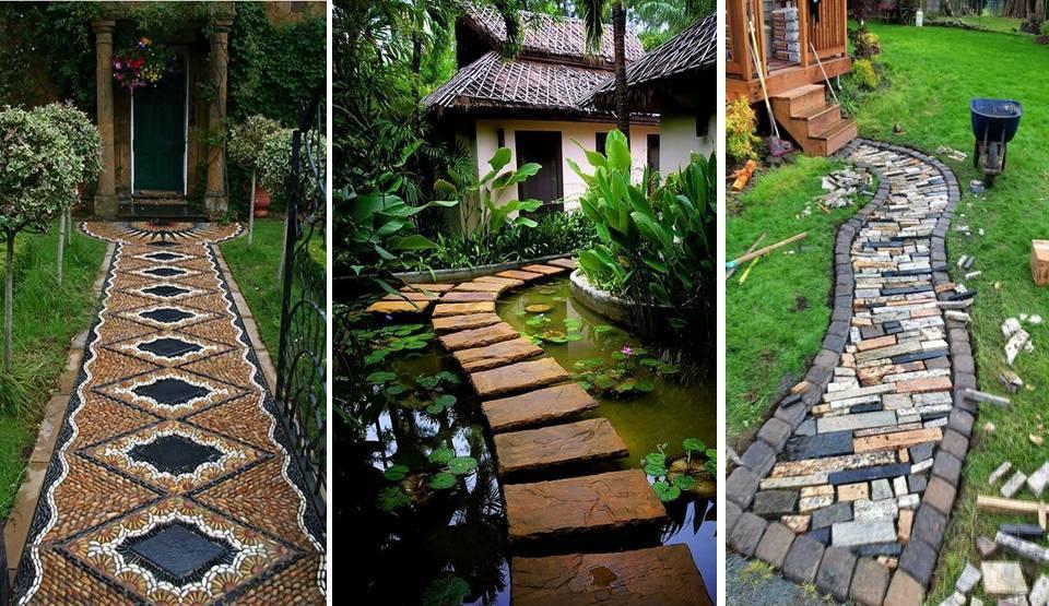Home decor diy garden paths and landscape design ideas for Diy garden path designs