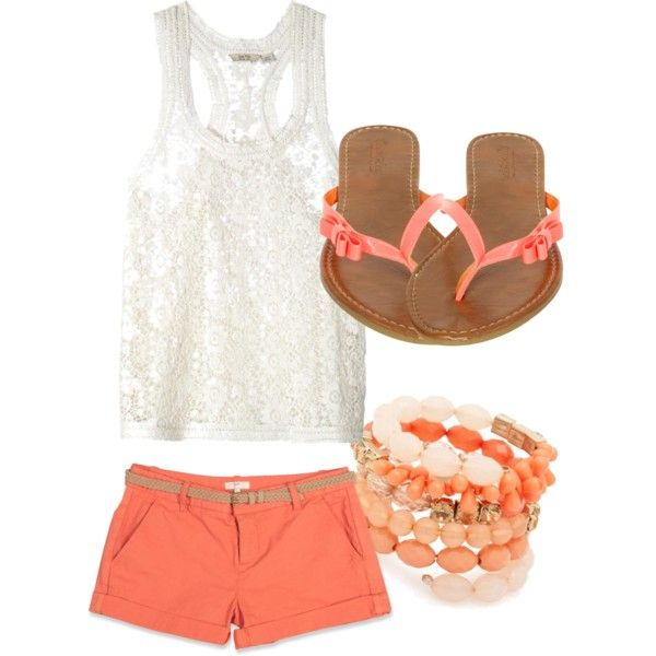 Spring Summer Coral Outfits