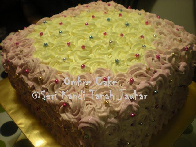 OMBRE CAKE DI HARI JADI