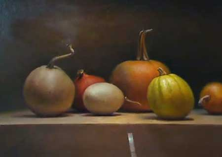 Still life painting demo the style of old masters