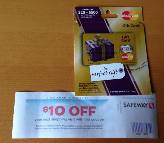 Green Espirit: MasterCard Gift Card rebate: Safeway $10 coupon ...