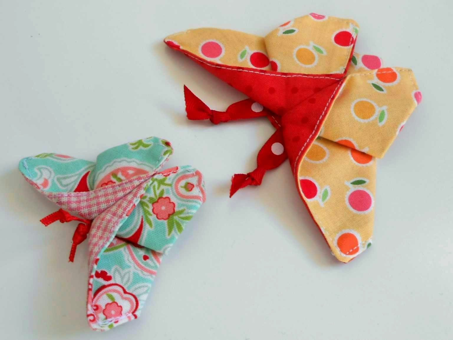 Fabric Origami Butterfly The Patchsmith: Origam...