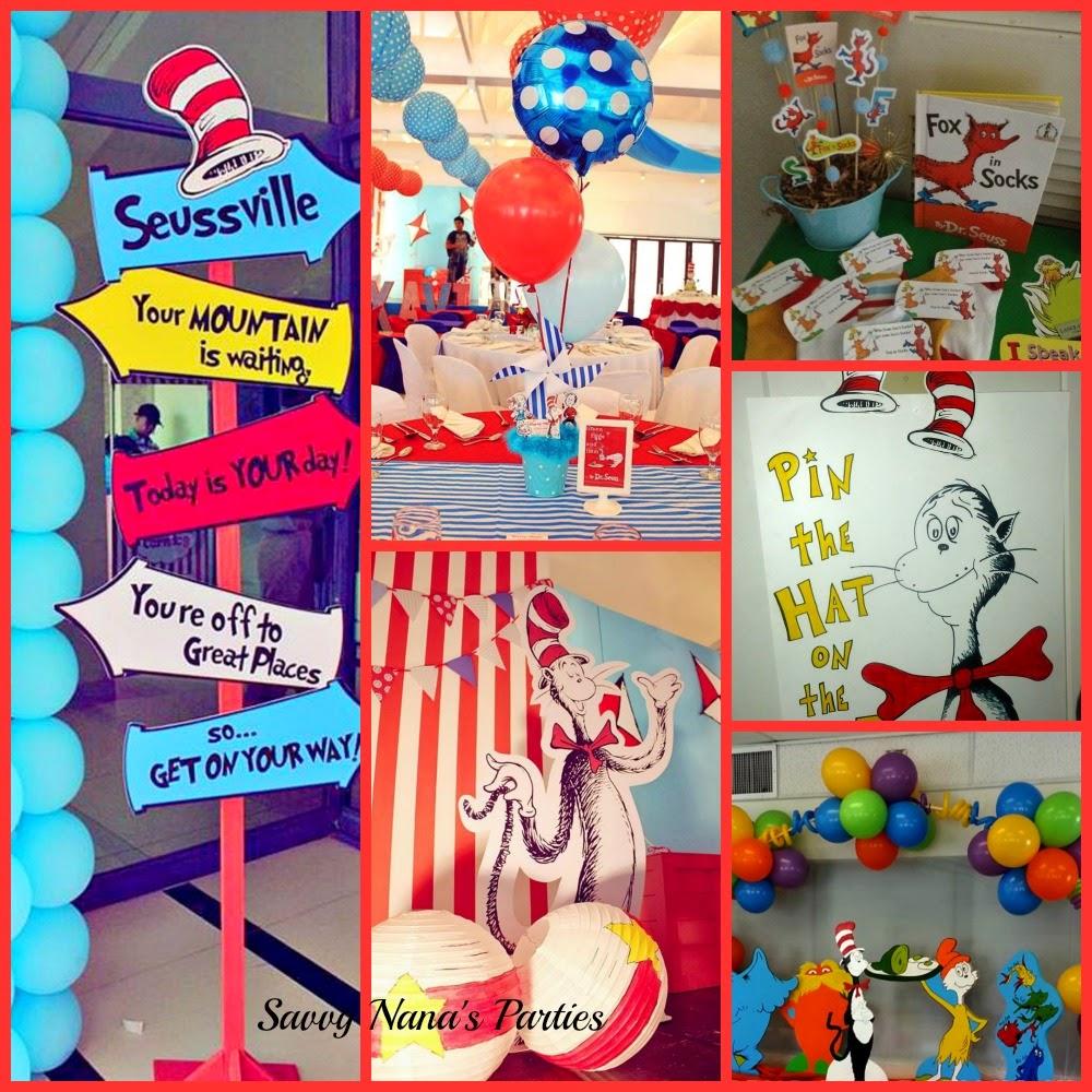 Dr. Seuss Birthday Party Ideas - FREE Printables - Savvy Nana