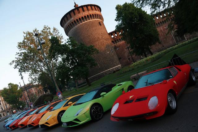 Lamborghini Celebrate Their 50th Anniversary with a Grande Giro in Italy
