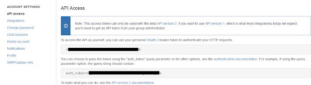 HipChat API Access