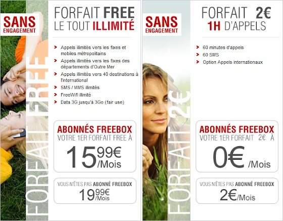 Forfaits Free Mobile