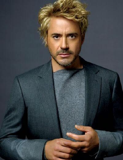 robert downey jr blonde hair, blond hair