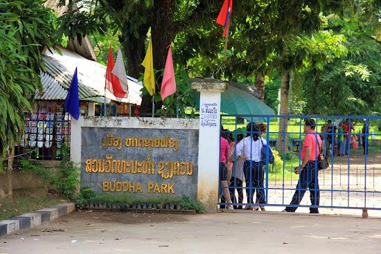 L'entrée principale de Buddha Park