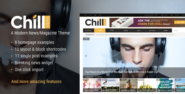 download Chill News - A Modern News/Magazine Theme