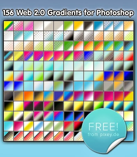 156 Gradients for Photoshop