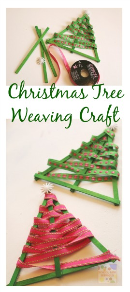 Ribbon Weave Christmas Tree Fine Motor Skills School