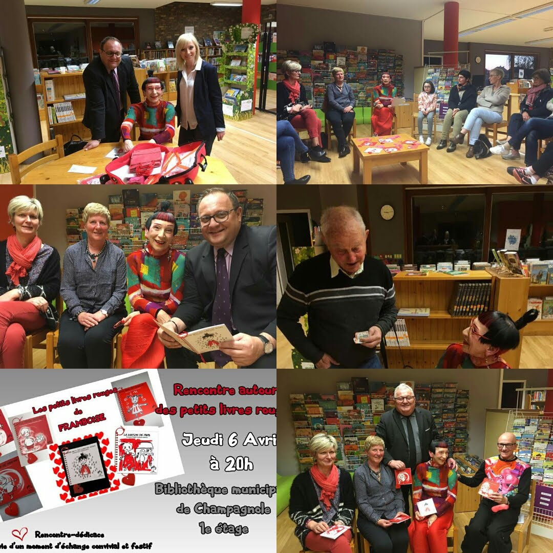 Rencontre autour de mes petits livres rouges à la bibliothèque de Champagnole