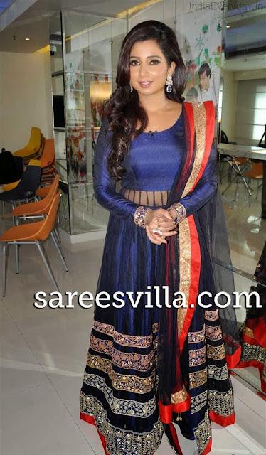 Shreya Ghoshal In Blue...