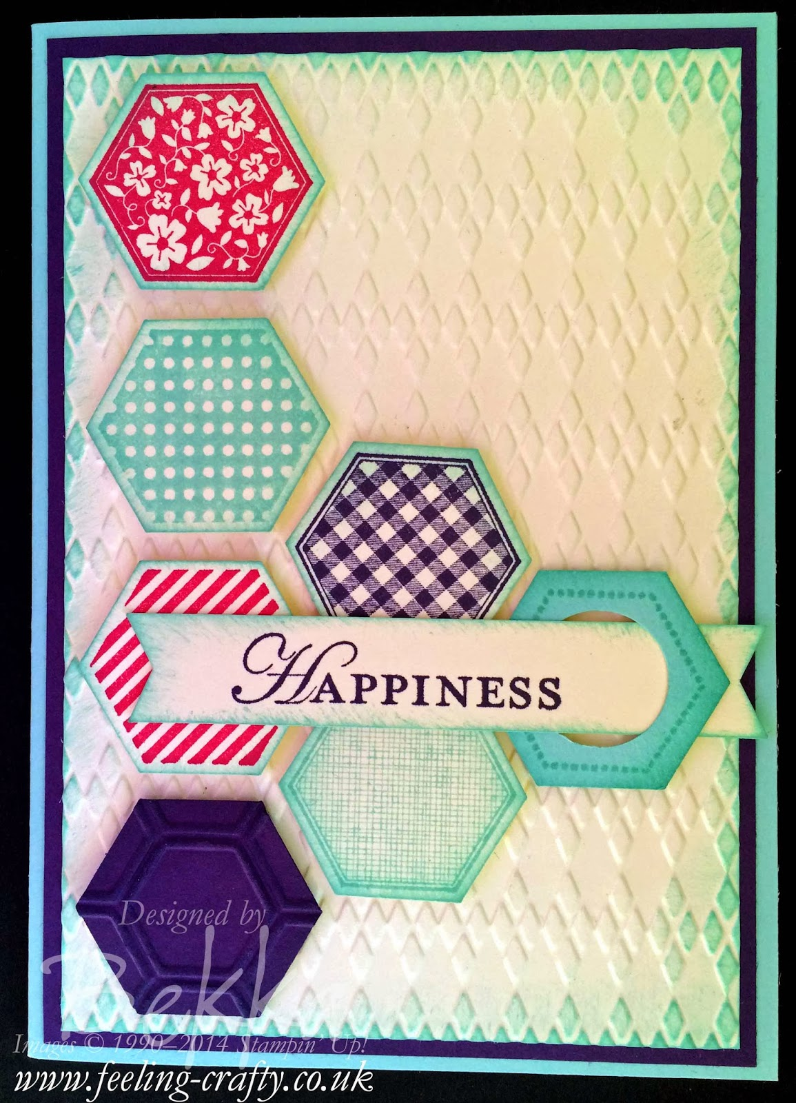 Six Sided Sampler Happiness Card including a Tutorial on how to make this double ended banner with the banner Punch from Stampin' Up!