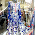 HIGH STREET DESIGNS: Royal Blue & White Flowered Dress by Henna Mehndi