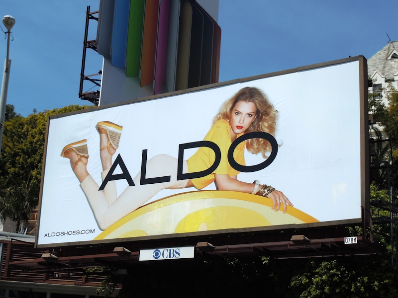 Lily Donaldson Aldo Shoes billboard