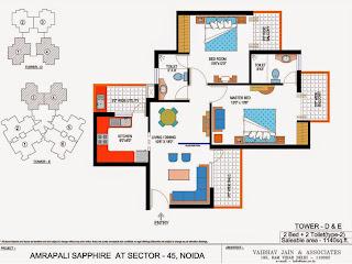 Amrapali Sapphire :: Floor Plan