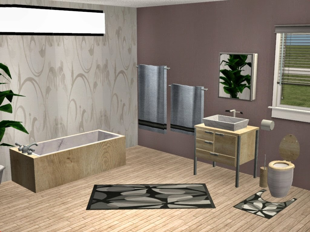 Simplified: Sims 2 Loco Series   Bathroom, Badezimmer Ideen