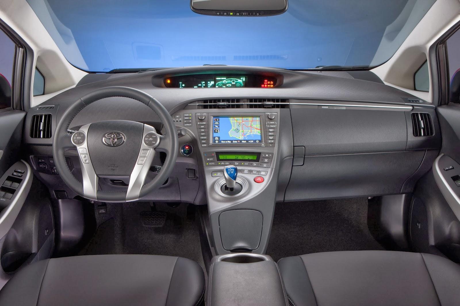 Interior of Toyota Prius