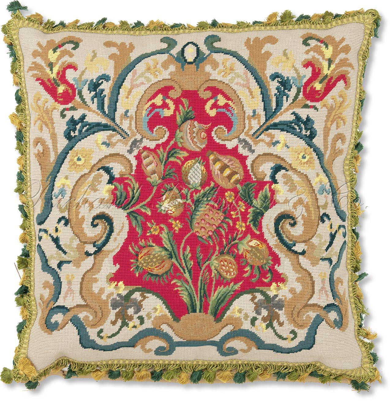 Modern Needlepoint Kits For Pillows : Eye For Design: Needlepoint.....Creating Heirlooms For Your Interiors