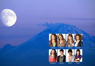 Morangos com Açucar Wallpapers Grátis Jovens Actores da série em fundo Lua e Montanha