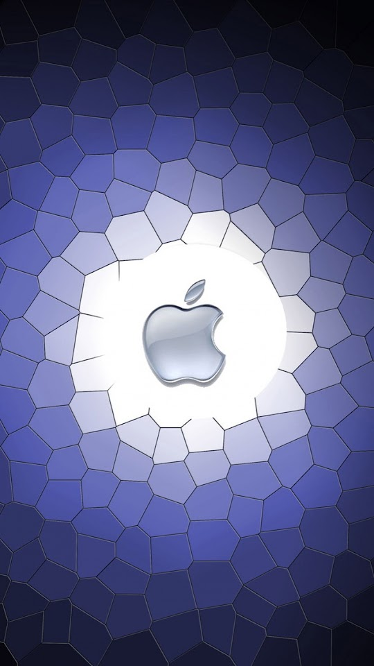 Apple Logo with Purple Cells Background   Galaxy Note HD Wallpaper