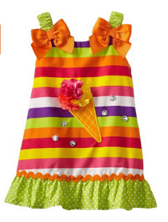 Youngland Baby Girls Infant Ice Cream Cone A Line Dress Moda Baby