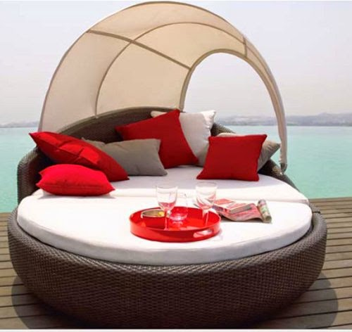 colourful outdoor daybeds design