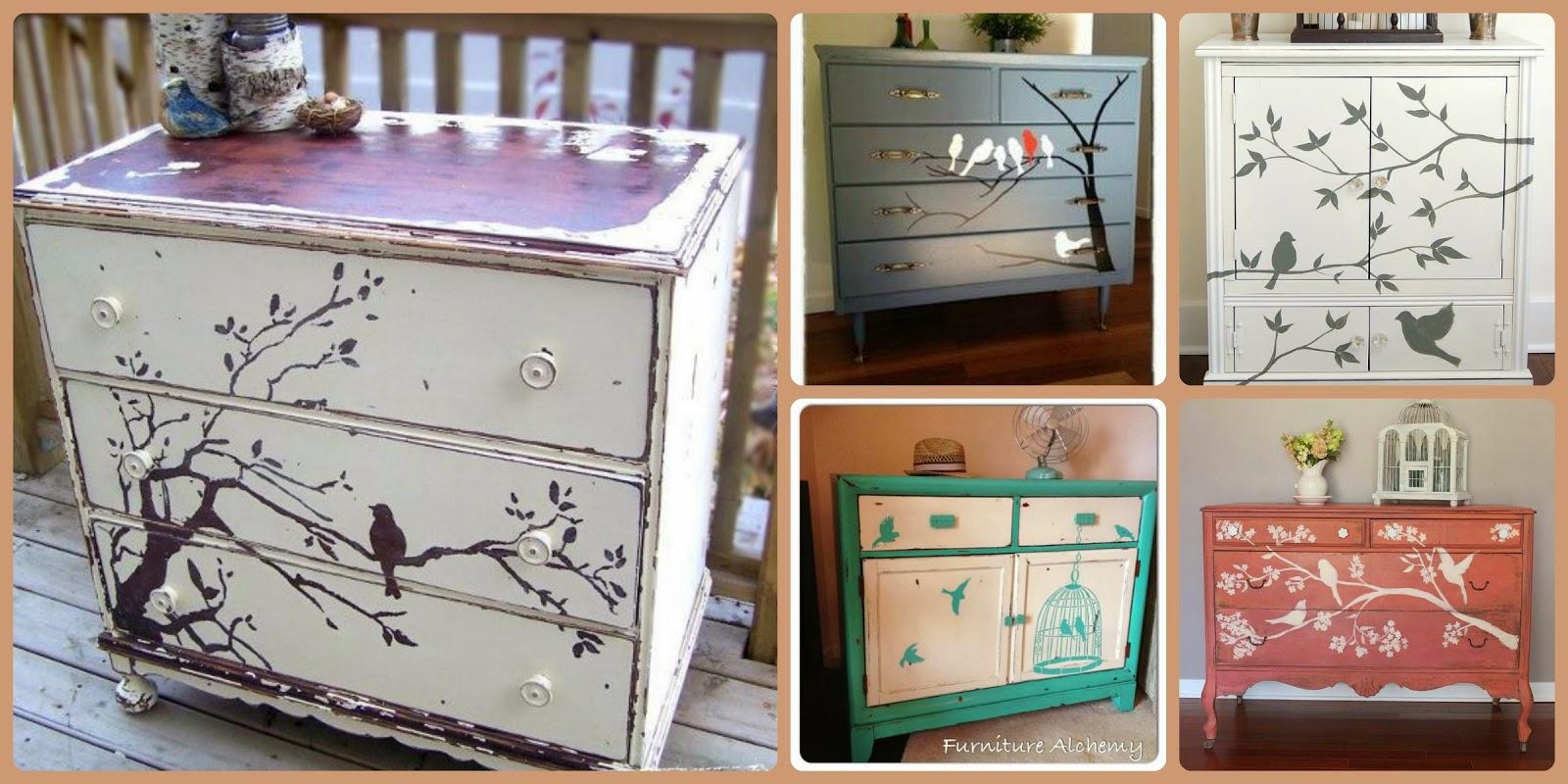 El taller de la artesana silla birdie - Muebles decorados a mano ...