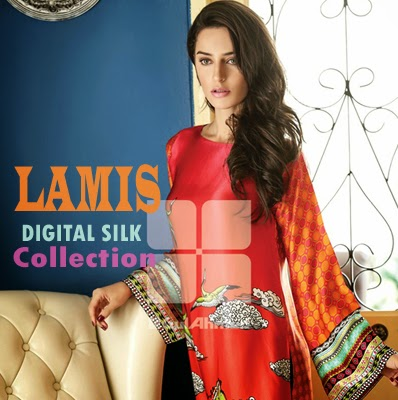 Lamis Digital Silk Collection 2015 by Gul Ahmed