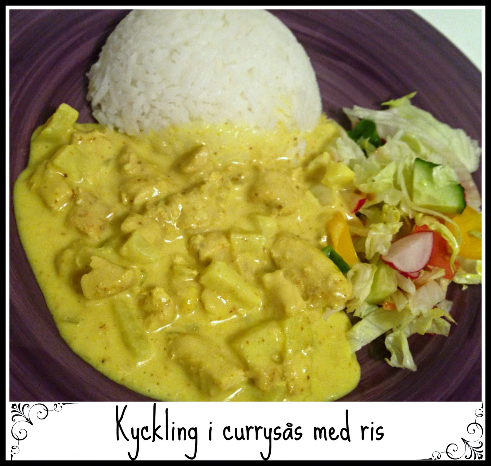 currysås med mjölk