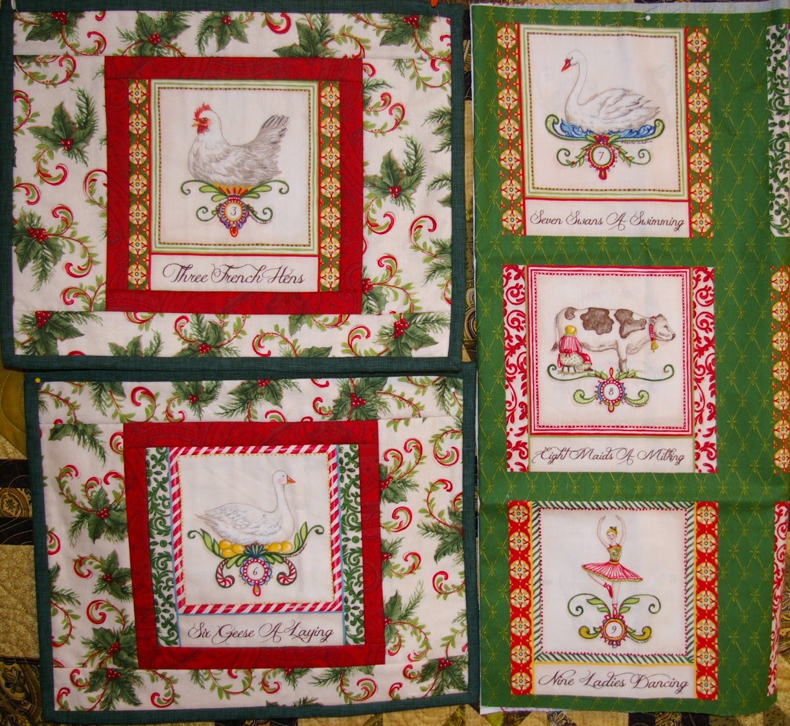 Shirley At The Marsh Store Christmas Placemats Quilt As You Go